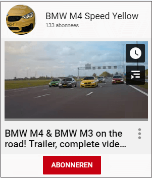 <a target='_Blank' href='https://www.youtube.com/c/BMWM4SpeedYellow'>M4 Speed Yellow</a>